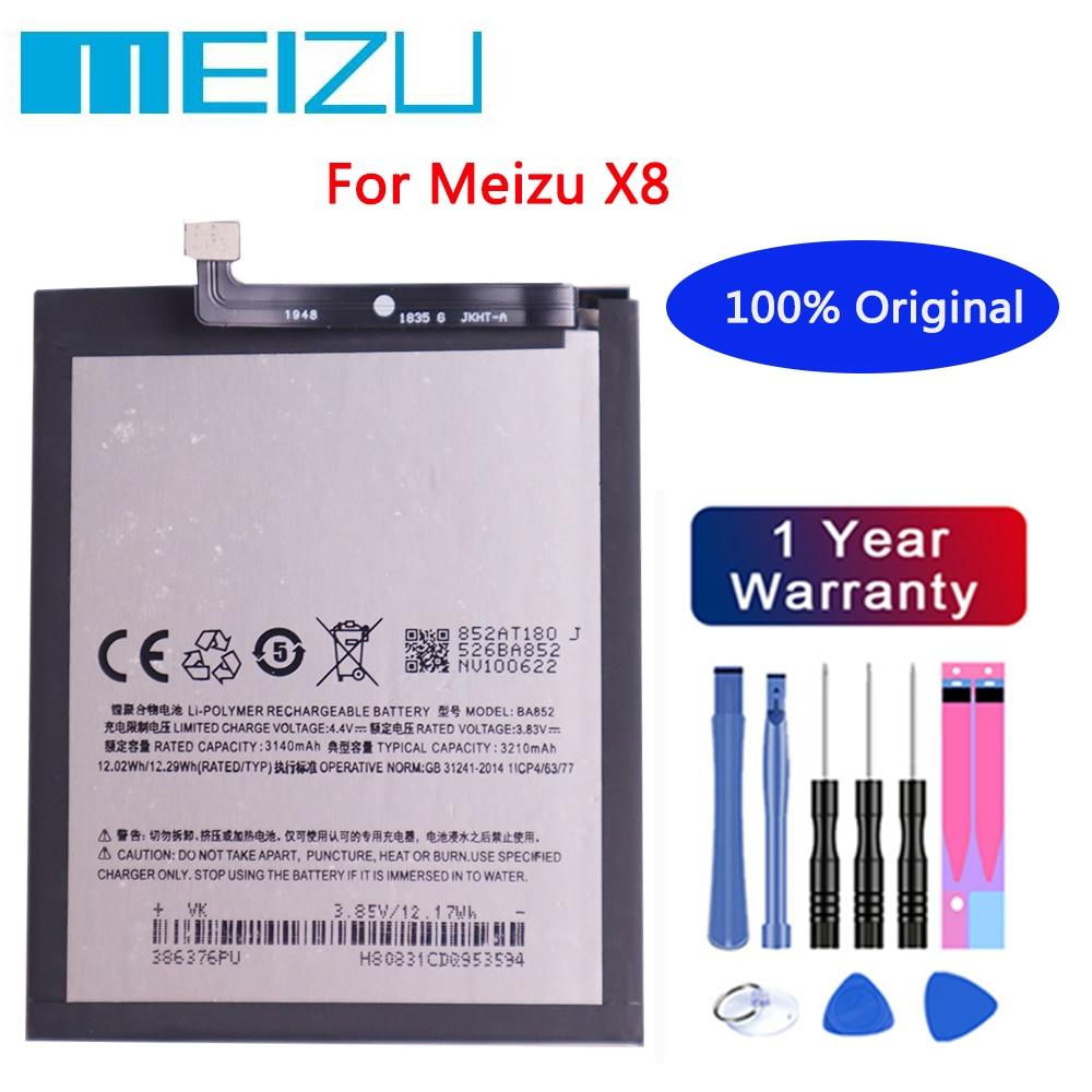 Meizu High Quality Battery 100% Original 3300mAh BA852 Battery For Meizu X8 Mobile Phone batteries+Free tools недорого