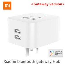 Original Xiaomi Mijia Dual USB inteligente Gateway bluetooth WIFI inteligente hembra trabajo hogar inteligente Xiaomi Mijia App