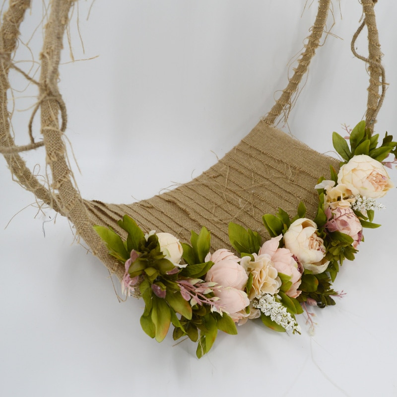 Newborn Photography Props Baby Photo Swing Infant Posing Flower Basket Baby Shoot Accessories For Studio New Type enlarge