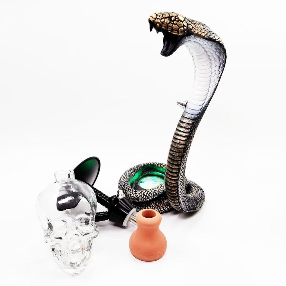 Hookah Set Hookah Full Bar Lamp Hookah Resin Snake Hookah Multi-person Use Nightclub Hookah Hose Lighters Shisha Accessories enlarge