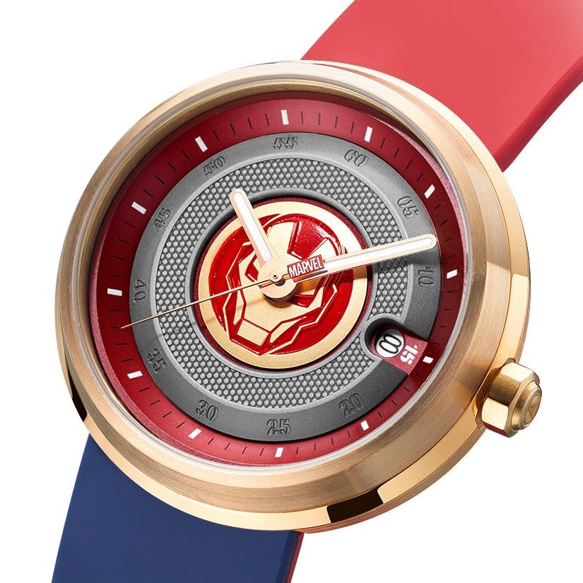 Original Marvel Avengers Men's Quartz Watch Multifunctional Waterproof Watch Stainless Steel Watch Simple Watch enlarge