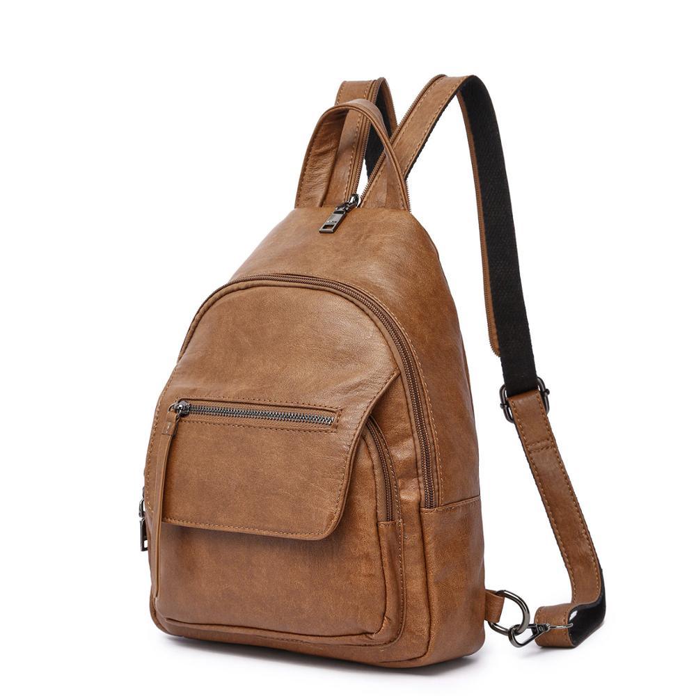 أميلي GALANTI المرأة على ظهره حقيبة كتف خفيفة الوزن مدرسة السفر محفظة جلدية PU مع حزام الكتف قابل للتعديل سيدة نمط