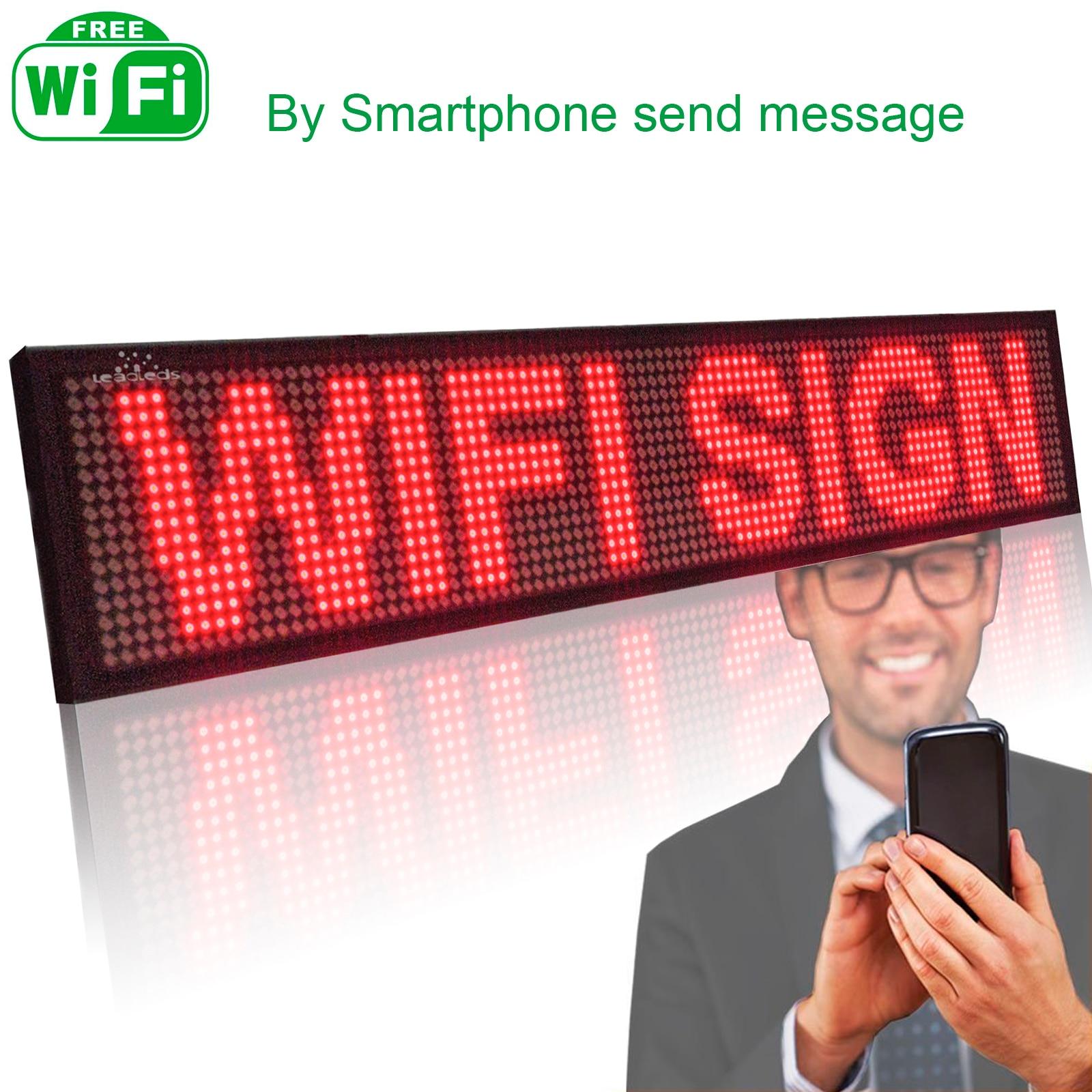 50 см P5MM красный текстовый СВЕТОДИОДНЫЙ знак Программируемый Прокрутка красное светодиодное табло Дисплей доска Дисплей multi-язык для реклам...