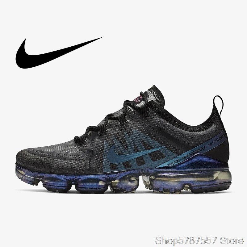 Оригинальные подлинные мужские кроссовки Nike Air VaporMax, 2019, дышащие уличные кроссовки, Атлетическая Дизайнерская обувь, обувь для бега, для муж...