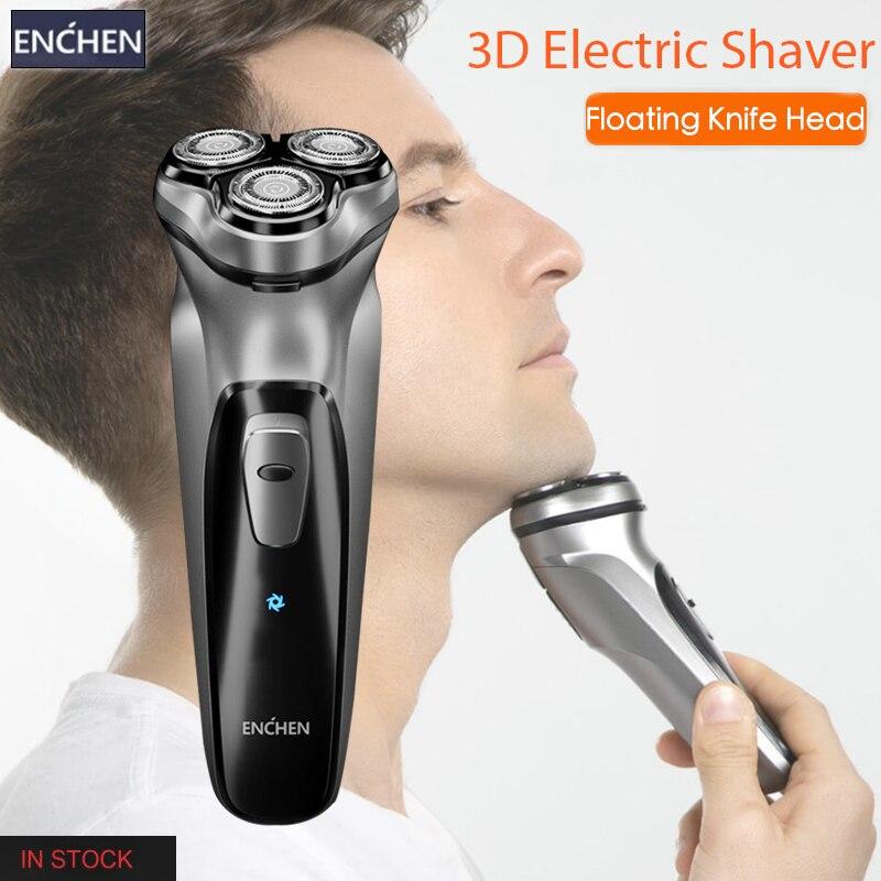 Enchen Electric Shaver Face Shaver BlackStone 3D Electric Razor For Men Washable USB Rechargeable Shaving Beard Machine Shaver