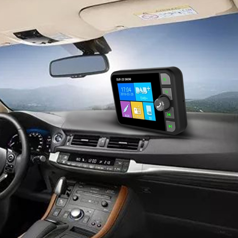 Dab Radio Receiver in Car with Screen Stereo Sound Digital Signal Antenna Broadcast Adapter Dab+ Bluetooth Mp3 Fm Transmitter enlarge