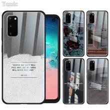 DDD Fall für Samsung Galaxy S20 Ultra 5G S10 Lite S10e S9 S8 Hinweis 8 9 10 Plus Gehärtetem glas Telefon Abdeckung