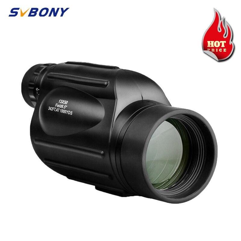 Svbony SV49 13x50 أحادي العين مناظير قوية المهنية طويلة المدى تلسكوب للسفر الصيد التخييم مع حزام اليد