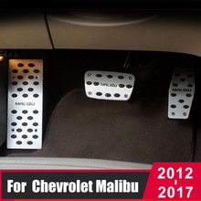 Car Accelerator Brake Pedal Footrest Pedal Plate Cover Interior Refit For Chevrolet Malibu 2012 2013 2014 2015 2016 2017 2018
