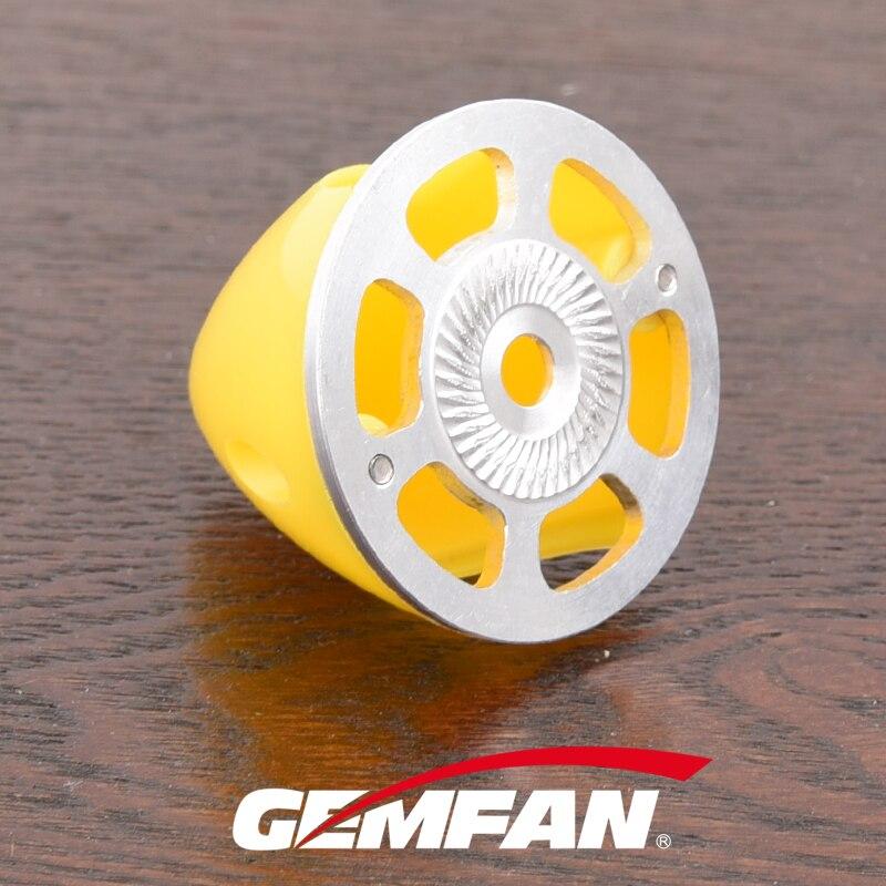 Gemfan, girador de plástico con Base de aluminio, 38mm, 45mm, 51mm, 57mm, 63mm, 70mm, 75mm para avión, 2 hojas, cubierta de hélice