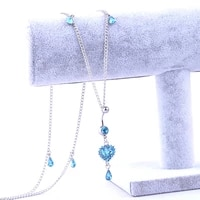 new fashion sexy personality heart water drop waist chain for women belly chains