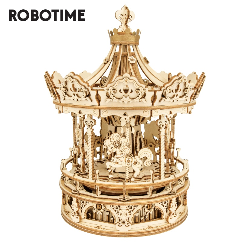 Robotime Rokr Music Box 3D Wooden Puzzle Game Assembly Model Building Kits Toys for Children Kids Birthday Gifts