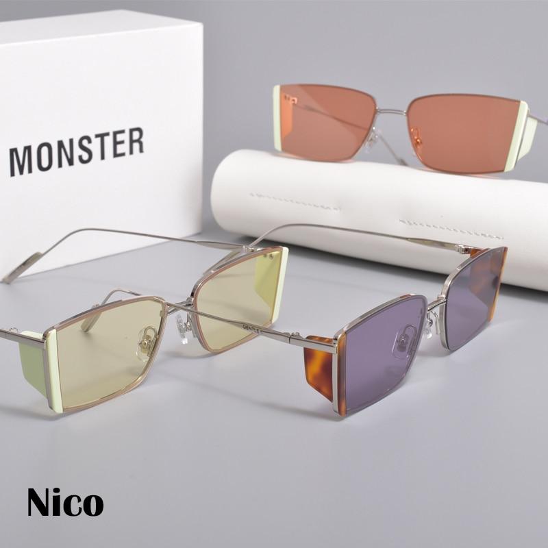 2021New الاسلوب المناسب الفولاذ المقاوم للصدأ نظارات شمسية النساء الرجال النظارات الإطار لطيف نيكو النساء النظارات الشمسية