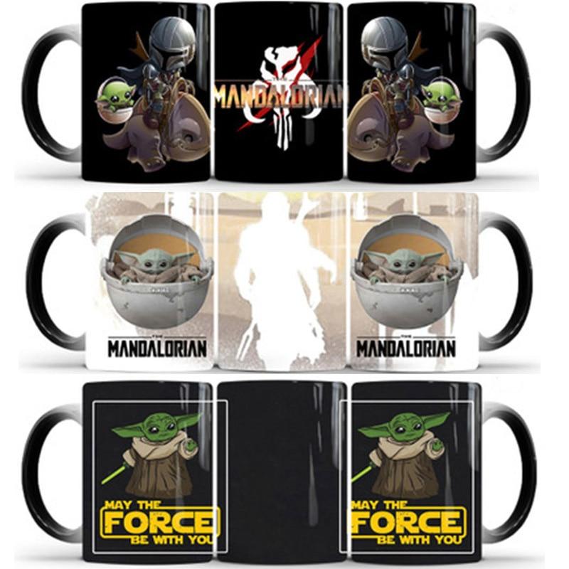 Creative 350ml Star Wars Mug The Mandalorian Baby Yoda Magic Coffee Mugs Novelty Milk Tea Cup Cute Ceramic Cup for Children