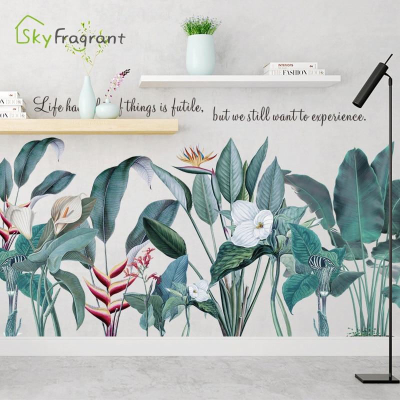 Adhesivo de pared creativo Callas lirio plantas pegatinas decoración del dormitorio decoración del hogar autoadhesiva decoración de pared caliente decoración del hogar