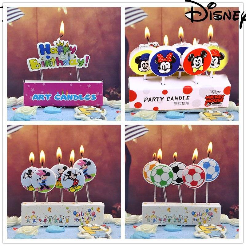5 uds. Vela de Anime Disney personaje de dibujos animados fiesta de cumpleaños boda Festval vela Mickey Minnie fiesta decoración chica regalo