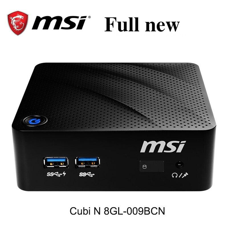 MSI-كمبيوتر صغير Cubi B171 N 8GL-009BCN BN5000 ، كمبيوتر صغير كتم الصوت N ، مضيف بنتيوم N5000 رباعي النواة ، ذاكرة وصول عشوائي 8 جيجا