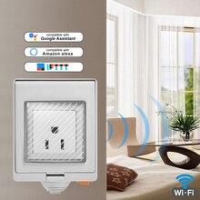 SONOFF S55 Wi-Fi Smart IP55 Wasserdichte Design Buchse für Android IOS für Google Home Sonoff Wand Schalter Smart Home Automation