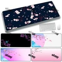 mouse pads flower mause pad gamer mousepad anime mats rubber mat kawaii large gaming xxl speed keyboard deskmat pink cute table
