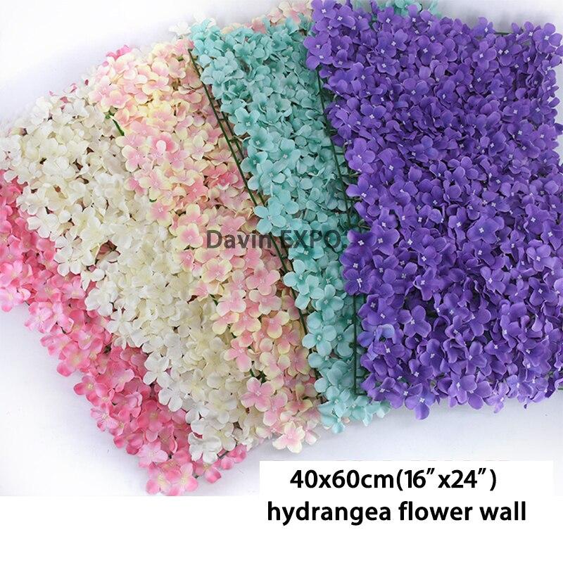 40x60cm flor artificial decoração da parede estrada chumbo hortênsia flor tapete casamento arco pavilhão cantos decoração floral