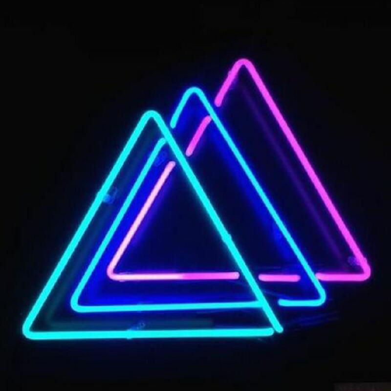 Custom Triangles Glass Neon Light Sign Beer Bar
