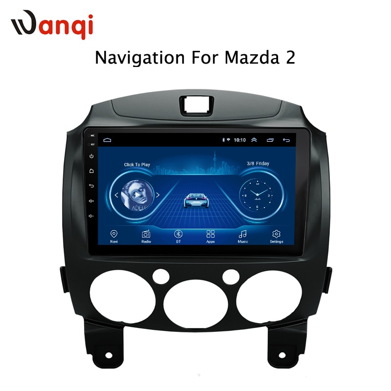 Dvd para coche Android 8,1 DE 9 pulgadas para MAZDA 2/Jinxiang/DE/tercera generación 2007-2014 navegación GPS reproductor Multimedia soporte wifi