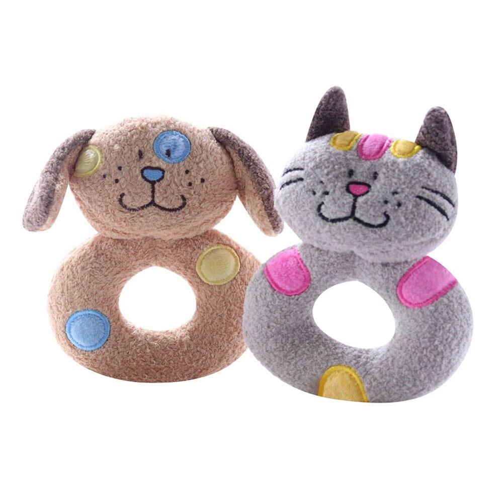 Juguete de sonajero de felpa de conejo de dibujos animados para bebés y bebés, juguete de mano para niños recién nacidos, muñecos de cuna Musical, juguete de peluche suave