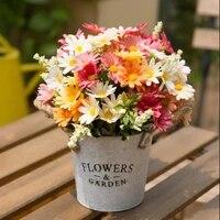 daisy sunflower artificial bouquet garden wedding decor christmas furnishings table decoration flower arrangement photo props