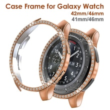 Bling Crystal Protective Face for Samsung Galaxy Watch 42mm 46mm Case Cover 41mm 45mm Diamond Cases