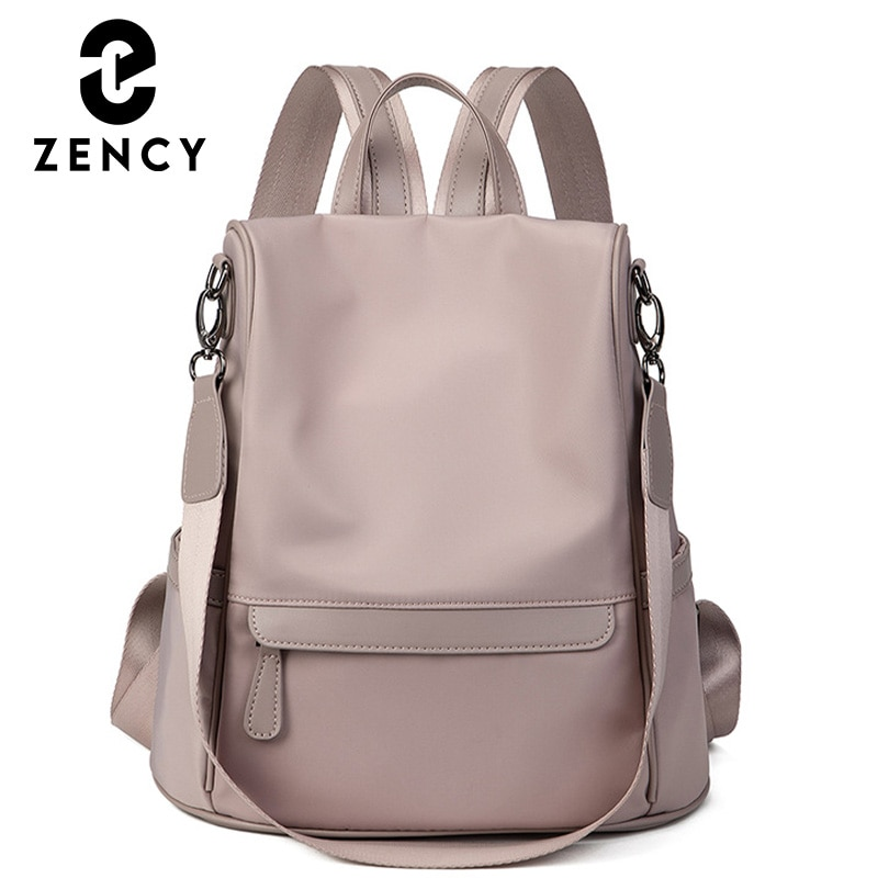 Zency 2021 Winter New Fashion Exquisite Ladies Backpack Vintage Nylon High Quality Female Rucksack Large Capacity For Student