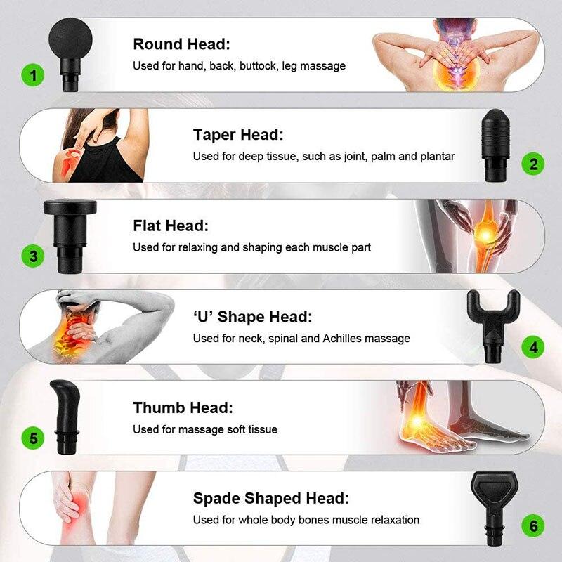 Massage Gun Fascia Gun Deep Muscle Relax Massage Electric Massager Fitness Equipment Noise Reduction Design For Male Female