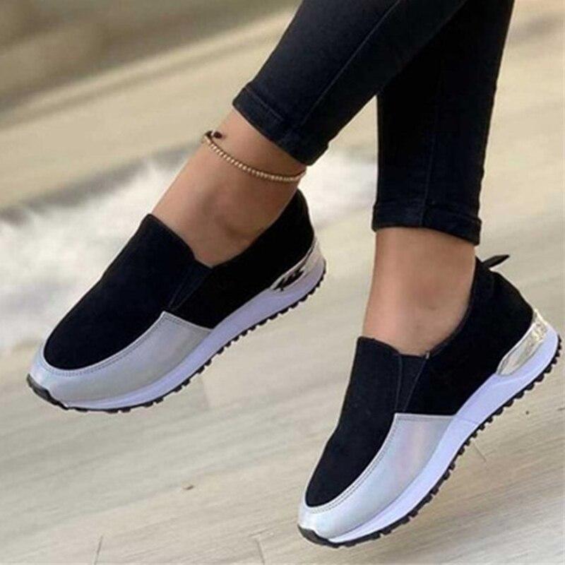 Rimocy المرأة أحذية رياضية الخريف 2021 مريحة تنفس أحذية رياضية امرأة تمتد النسيج عدم الانزلاق احذية الجري حجم كبير 43
