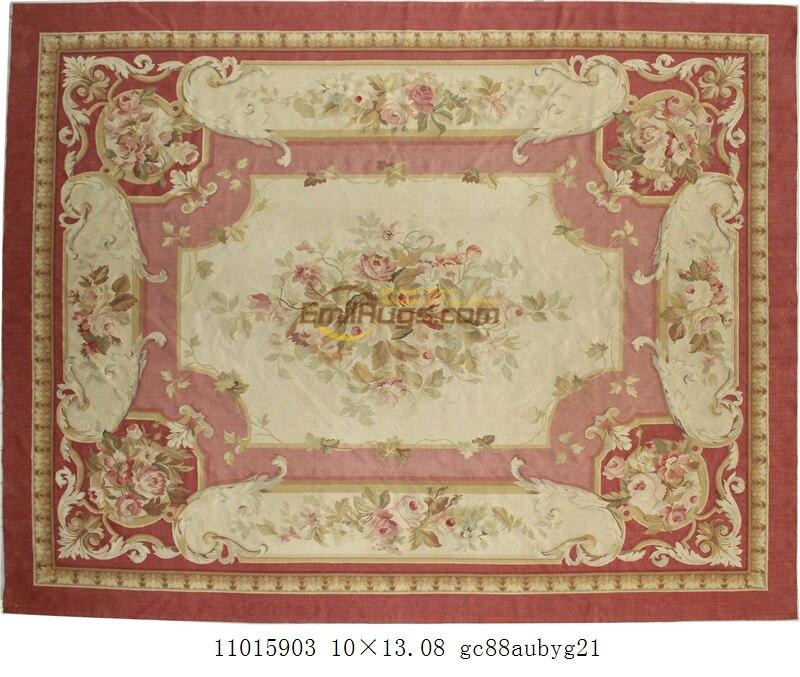 Lana alfombras de aubusson 305x427cm 10x14ft zona azul beige