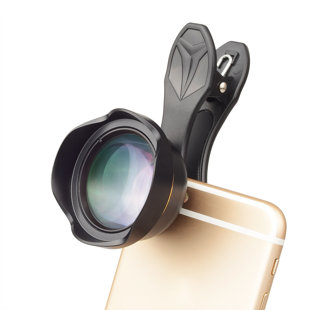 Lentes para teléfono APEXEL 65MM professional optical distance-free viñeta portrait blur universal teleobjetivo teléfono