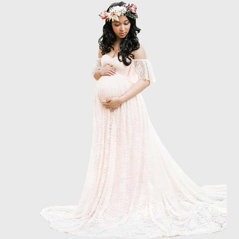 Long Maternity Photography Props Pregnancy Dress Photography Maternity Dresses For Photo Shoot Pregnant Dress Lace Maxi Gown 79