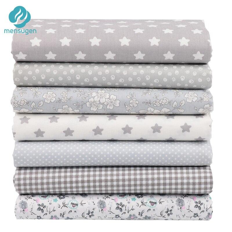 Mensugen, 7 Uds., 40x50cm, tela de algodón para colchas de retazos, cojines, Telas de retales, tejido de costura DIY, manualidades, tela Tilda