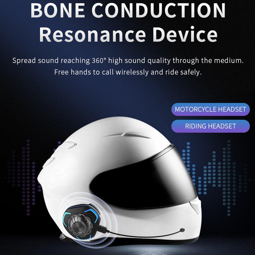 Motorcycle Helmet Wireless Headset Bone Conduction Headset For Helmet Super Bass IP68 Water Proofing Wireless Helmet Speaker enlarge