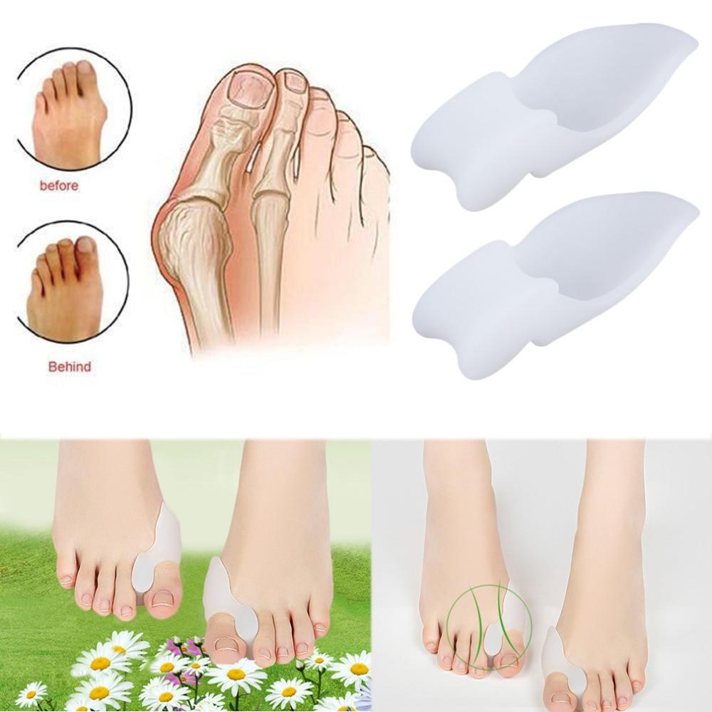 2pcs/lot Silicone Gel Foot Pad Stretch Corrector Big Toe Separator Spreaders Alignment Toe Bone Inso