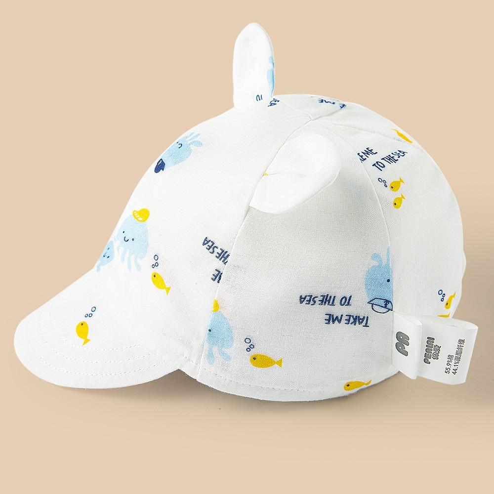 Cute Baby Hats 2020 Summer Baby Boys Girls Kids Polka Dot Peak Hat Smiling Face Wave Point Baseball Cap Sunhat for baby cap