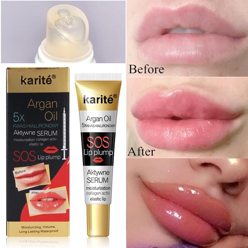 Instant Volumising Lip Plumper Collagen Lip Plumping Gloss Moisturizing Repair Lip Fine Lines Lips Enhancer Essence Cosmetics недорого