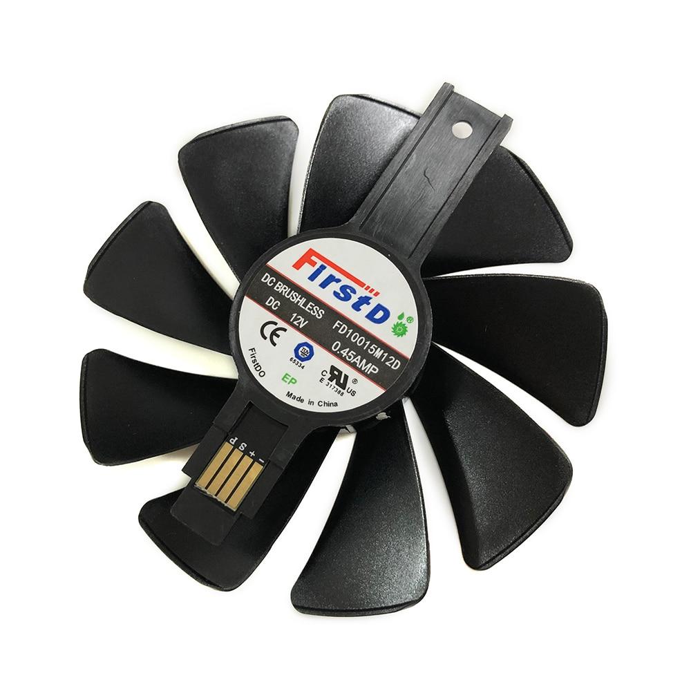 RX 580/480/470/570 100MM 0.45AMP FD10015M12D GPU ventilador refrigerador para zafiro RX480 RX470 RX580 RX570 NITRO VGA tarjetas de refrigeración