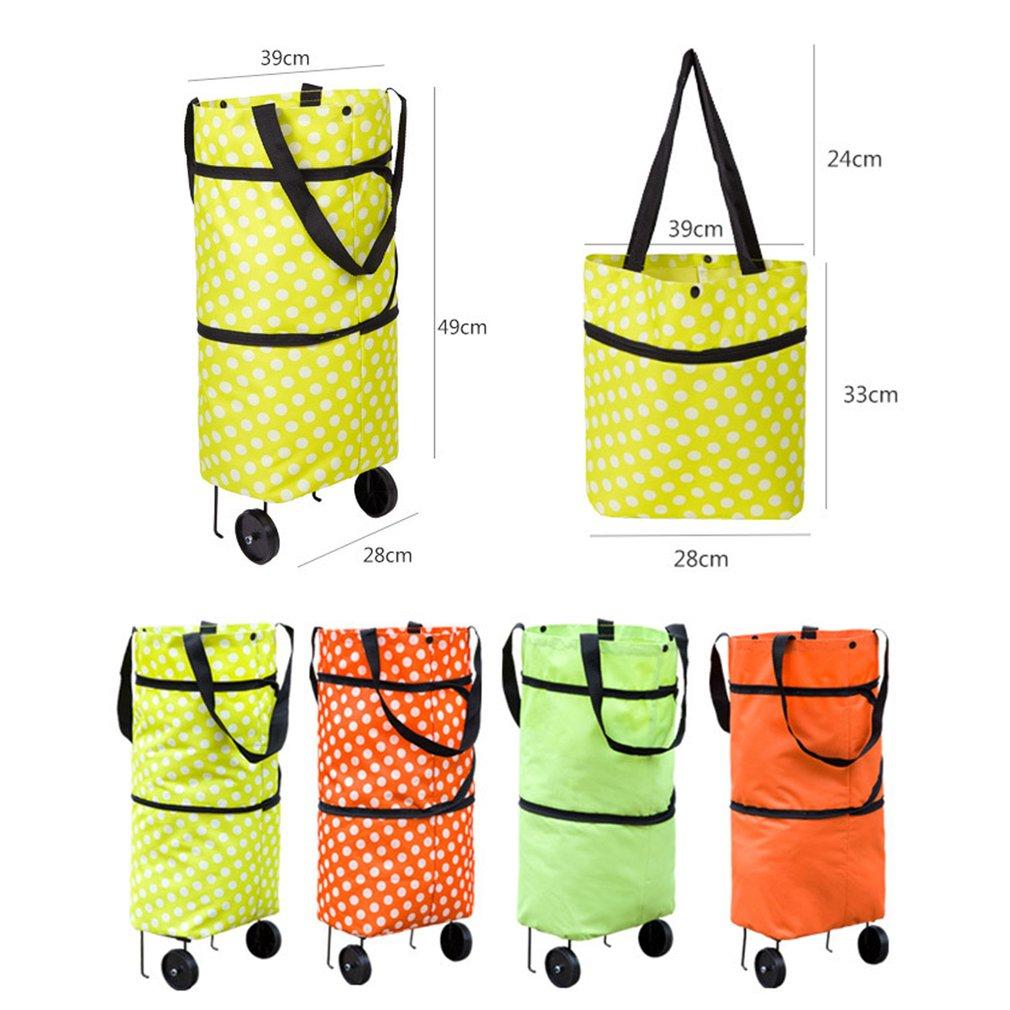 Shopping Trolley Wheel Bag Large Capacity Waterproof Oxford Cloth Foldable Shopping Trolley Wheel Bag Traval Cart Luggage Bags