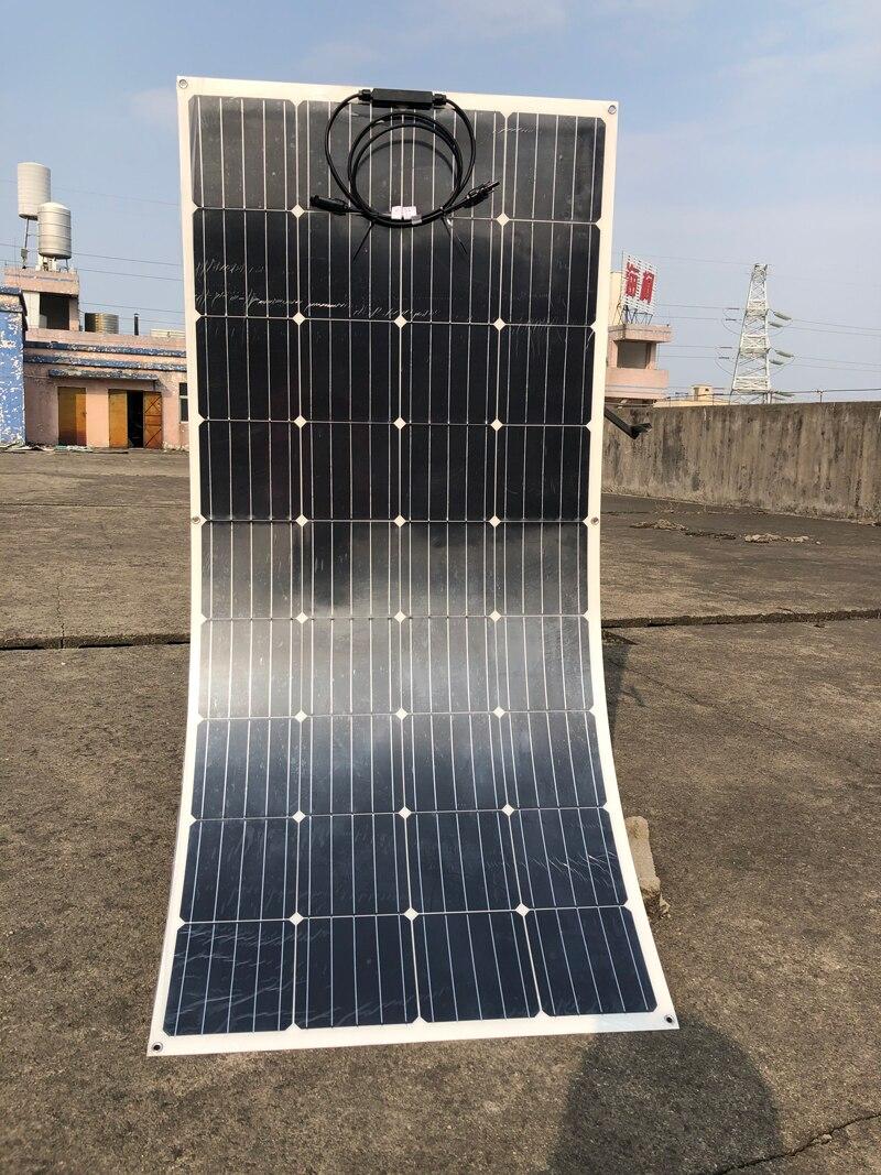 Panel Solar Flexible Etfe 12V 150w, controlador de carga Solar 48V 30A Z, soporte cargador de batería Solar para coche y caravana, Campamento, barco
