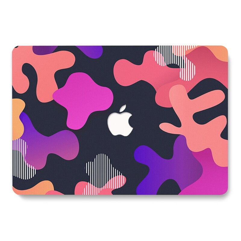 Capa para Notebook Aguarela Folha Listras Padrão Macbook Air 13 Pro 16 A2141 Retina 12 15 A1398 A2159 A2338 A2337