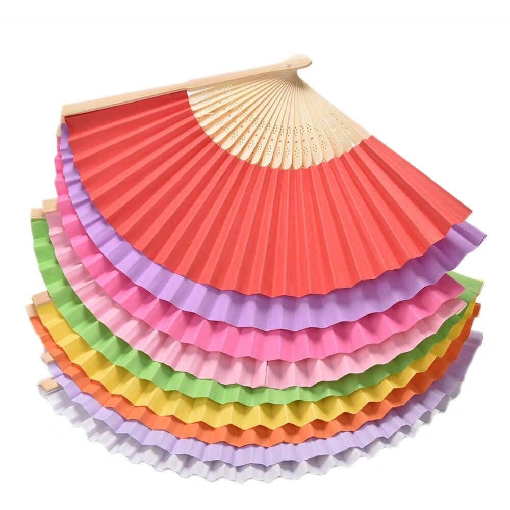 Abanicos de mano de bambú de verano chino elegante bolso para boda ventilador plegable Favor