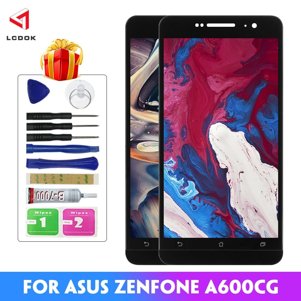 100% probado LCD para Asus Zenfone 6 A600CG A601CG T00G LCD pantalla MONTAJE DE digitalizador con pantalla táctil Panel piezas de repuesto