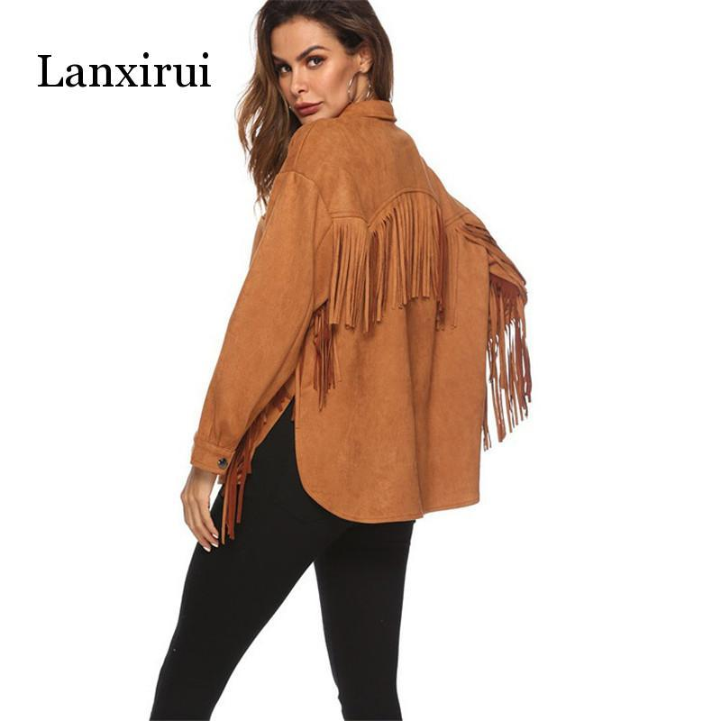Nuevos, chaqueta de Cachemira de manga larga con flecos, abrigo de primavera y verano para mujer, prendas de vestir a la moda, abrigo cálido a prueba de viento para mujer