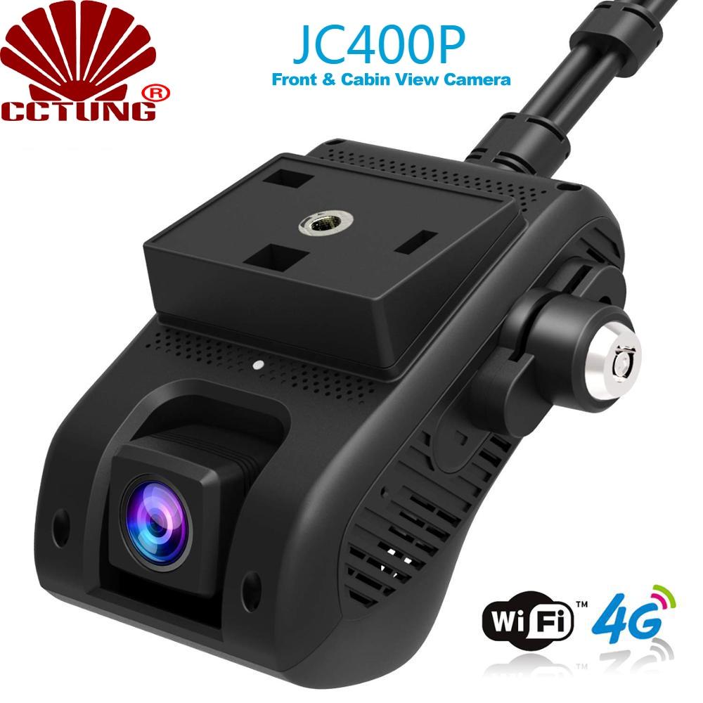 JC400 4G سيارة ذكية تتبع نظام تحديد المواقع داشكام مع واي فاي هوت سبوت وثنائي 1080P تسجيل الفيديو سحابة لايف SOS إنذار عن طريق تطبيق جوال مجاني