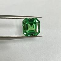 meisidian asscher cut 2 karat lab creted green tsavorite stone pirce per carat