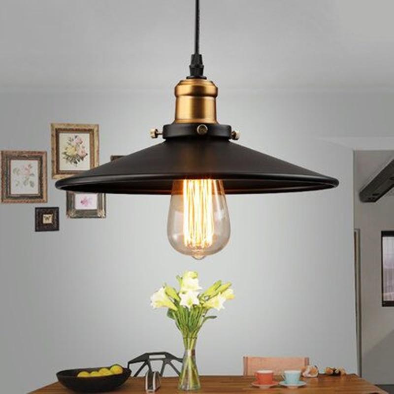 decoration salon Edison Loft Style Vintage Industrial Retro Pendant Lamp Light e27 Holder Iron Restaurant Bar Counter Bookstore